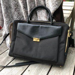 Tumi Larkin Erin Briefcase Black Nylon Leather